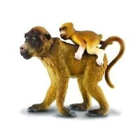 Collecta - Baboon Female with Baby 88203