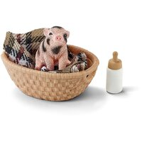 Schleich - Mini-Pig with Bottle 42294