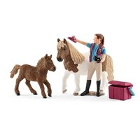Schleich - Stablehand with Shetland Ponies 42362