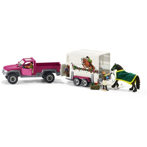 Schleich - Pick Up with Horse Box 42346