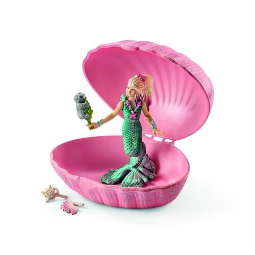 Schleich - Mermaid with Baby Seal in Shell 70564